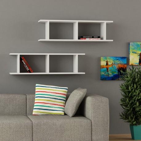 Mensola libreria Bastian in melaminico 18 mm design moderno