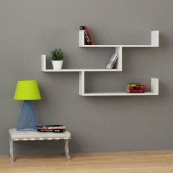 Avalon mensola libreria a muro in melaminico 18 mm moderna