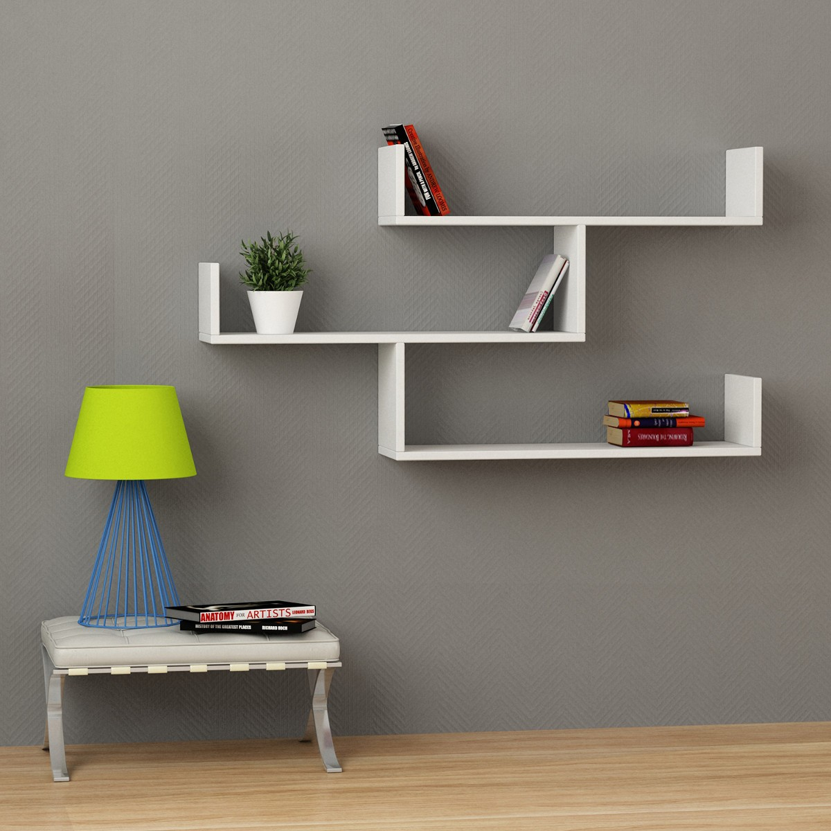 Amazing librerie sospese a muro libreria a muro moderna in melamminico with immagini librerie - Librerie ikea catalogo ...