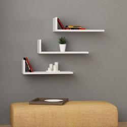 Jessika mensola libreria a parete in melaminico 18 mm design moderno