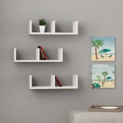 Lorinda mensola libreria a parete in melaminico 18 mm per dvd cd libri