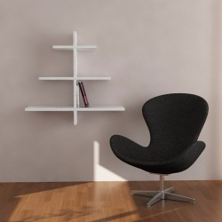 Ballad mensola libreria a parete in melaminico 18 mm design a forma di albero