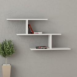 Kristin mensola libreria a muro in melaminico 18 mm design moderno