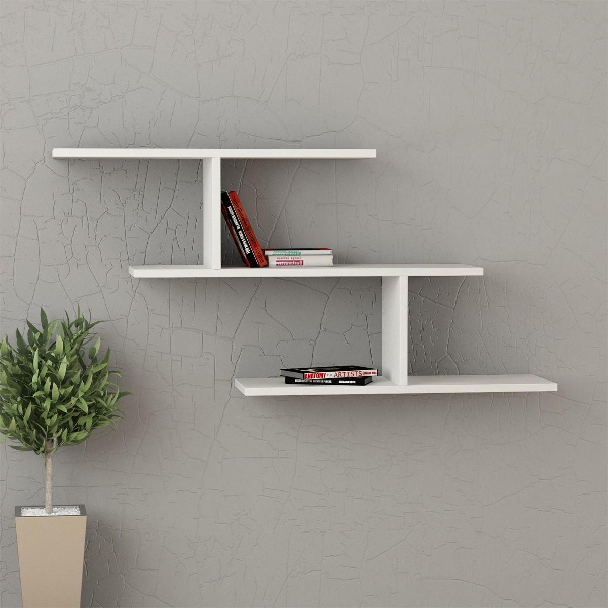 kristin mensola libreria a muro in melaminico 18 mm design