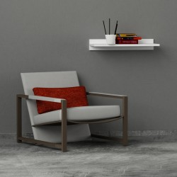 Spotted mensola a parete in melaminico 18 mm design moderno