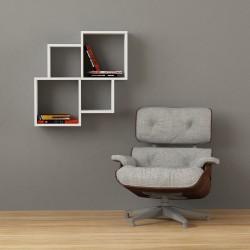 Bernice mensola cubo libreria a parete in melaminico 18 mm design moderno