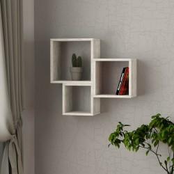 Isolda mensola libreria cubo a parete in melaminico 18 mm
