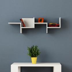 Carly mensola cubo libreria a muro in melaminico 18 mm design moderno