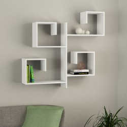 Alternate mensola libreria a parete in melaminico 18 mm design moderno