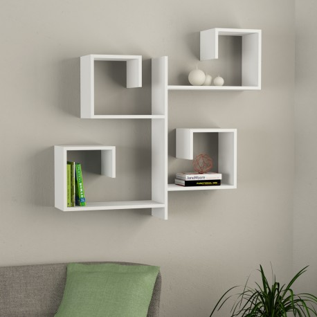 alternate mensola libreria a parete in melaminico 18 mm