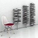 Libreria da parete a colonna Dotto in alluminio e acciaio