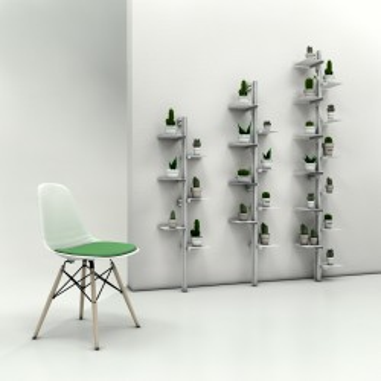 Mr green libreria da parete a colonna in alluminio e acciaio