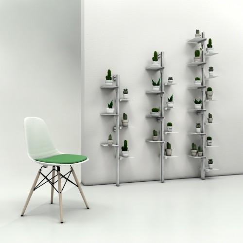 Libreria da parete a colonna in alluminio e acciaio Mr Green