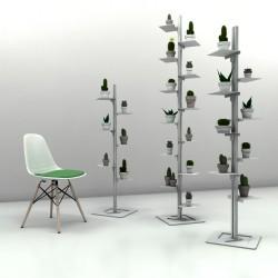 Mr green libreria autoportante a colonna in alluminio e acciaio