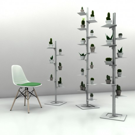 Libreria autoportante a colonna in alluminio e acciaio Mr Green