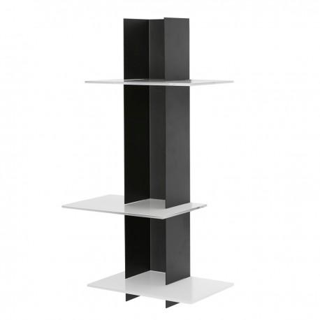 Libreria a muro a colonna in metallo e plexiglass Elib3