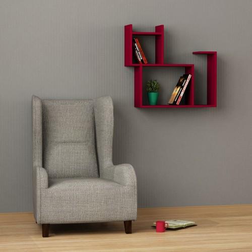 Baffo libreria a muro in legno per soggiorno cameretta