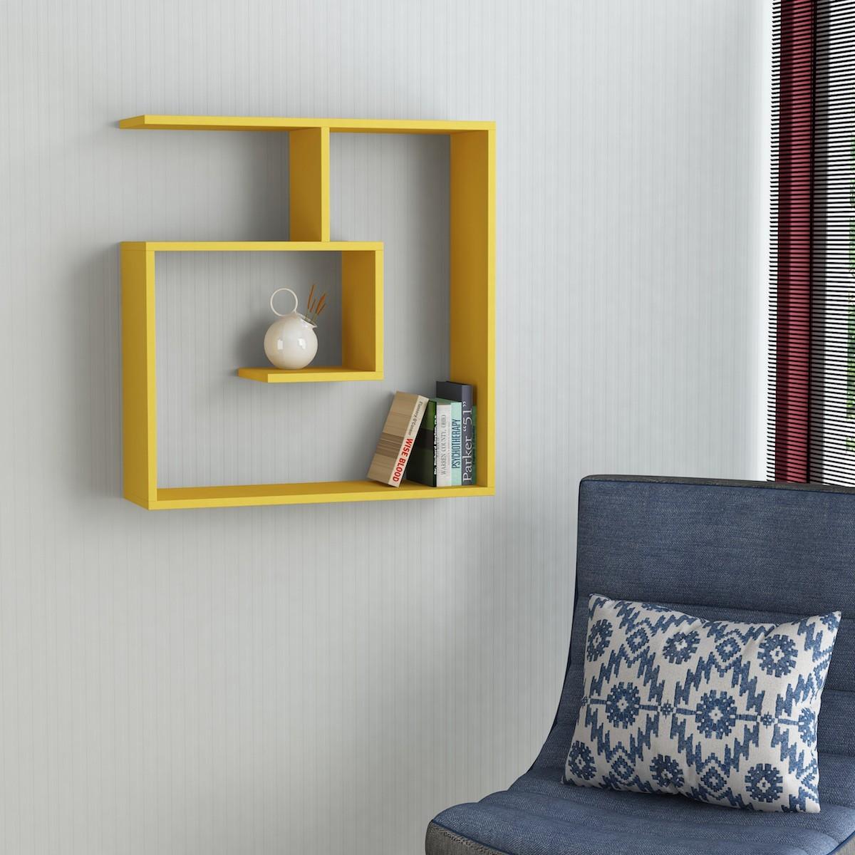 Spyral mensola libreria da parete in legno melaminico - Mensole da parete design ...