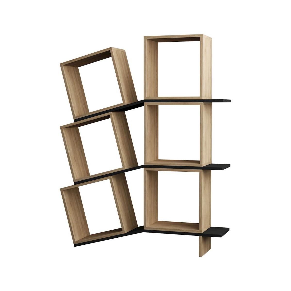 Sloping libreria da parete cubi e mensole in legno bianco for Mensole legno bianco