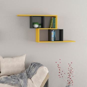 Gekko libreria moderna a cubi per soggiorno 125 x 55 cm