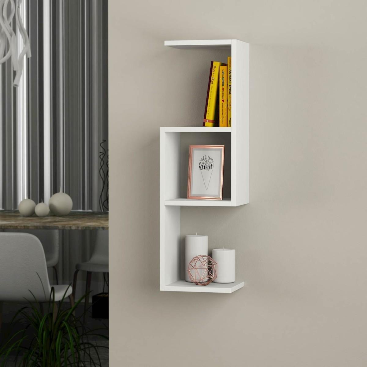 Bubu libreria mensole sospese a muro in legno 27 x 90 cm for Mensole libreria