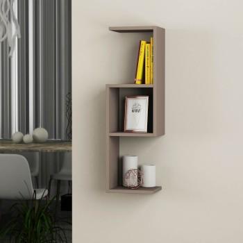 Bubu libreria mensole sospese a muro in legno 27 x 90 cm