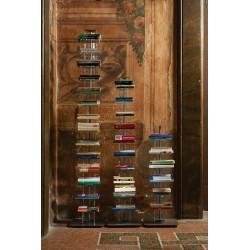 Libreria a colonna in metallo e metacrilato 6-10-14 ripiani Ziadele