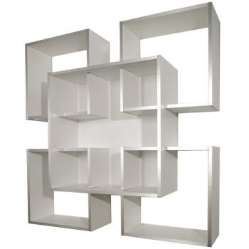 Libreria a muro moderna Tato Uthesign in legno 120 x 120 cm