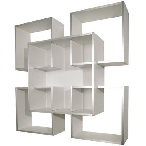 Libreria a muro moderna in legno 120 x 120 cm Tato