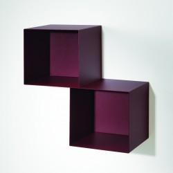 Mensola cubo da parete sospesa in acciaio per camerette Twin