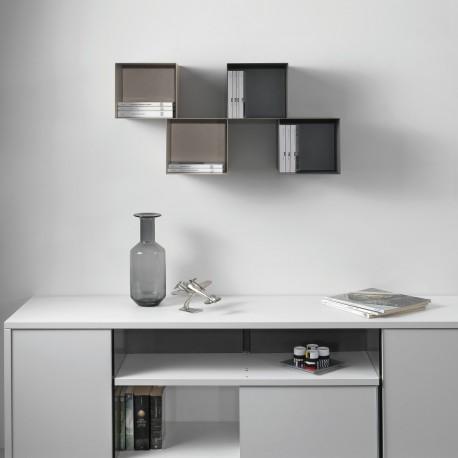 Cubi da parete per camerette in acciaio design moderno Twin