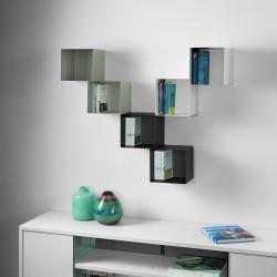 Mensole cubo da parete componibili per camerette Twin