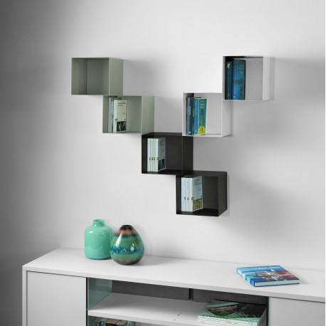 Mensole cubo da parete componibili per camerette twin - Mensole da parete design ...