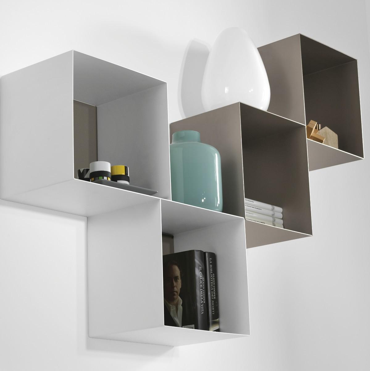 Mensole cubi da parete componibili per cameretta twin - Mensole da parete design ...