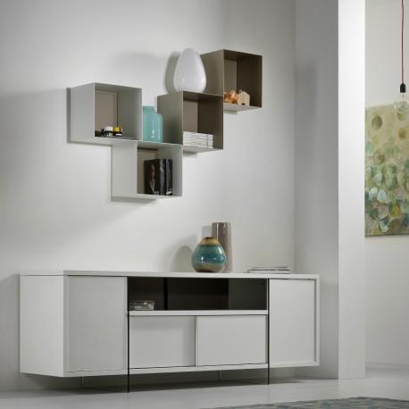 Mensole cubi da parete componibili per cameretta moderna Twin