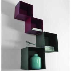 Combinazione D cubo librerie 0/76 + 0/77 - TWIN design moderno