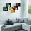 Composizione E cubo librerie a muro 0/76 + 0/77 - TWIN colorate
