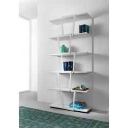 Libreria da parete design moderno in metallo e legno Trapezio