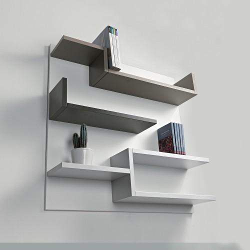 Libreria a muro moderna in legno 100 x 100 cm Myshelf