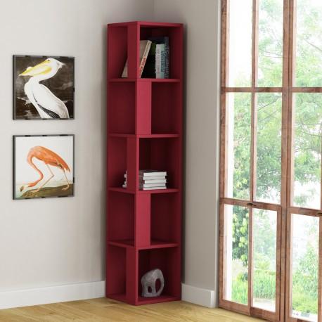 Kendal libreria angolare verticale in melaminico