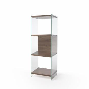 Libreria da terra verticale in laminato e vetro 126 cm Byblos