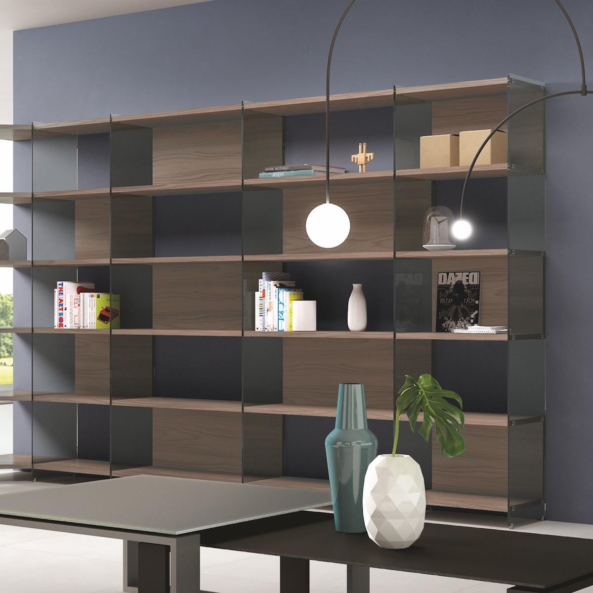 Libreria Da Soggiorno : Byblos libreria scaffale angolare da soggiorno design moderno