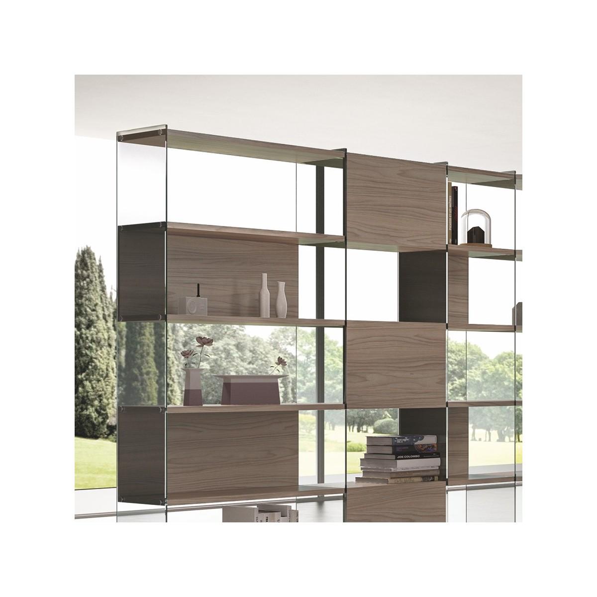 Byblos9 libreria scaffale angolare da soggiorno design moderno for Design soggiorno moderno