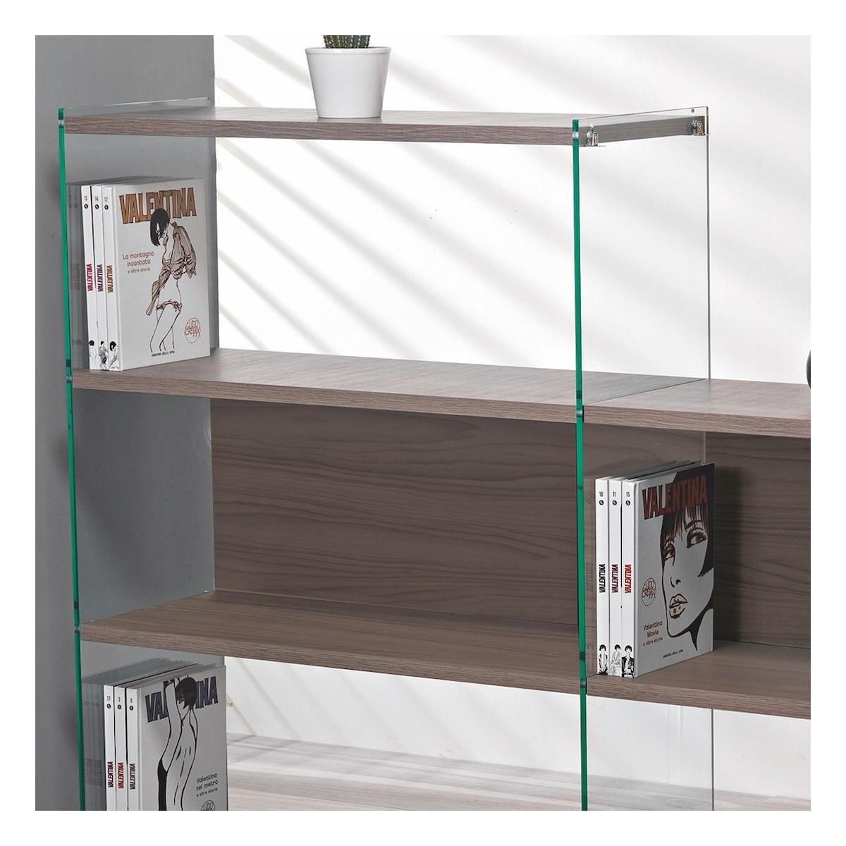 Byblos10 libreria divisoria da soggiorno design moderno separa ambienti - Libreria divisoria con porta ...