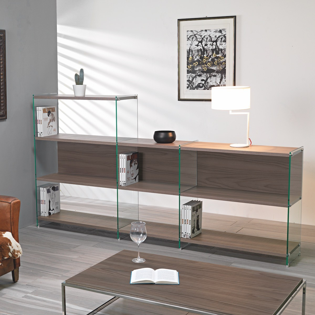 Libreria divisoria da soggiorno design moderno byblos10 for Design moderno interni