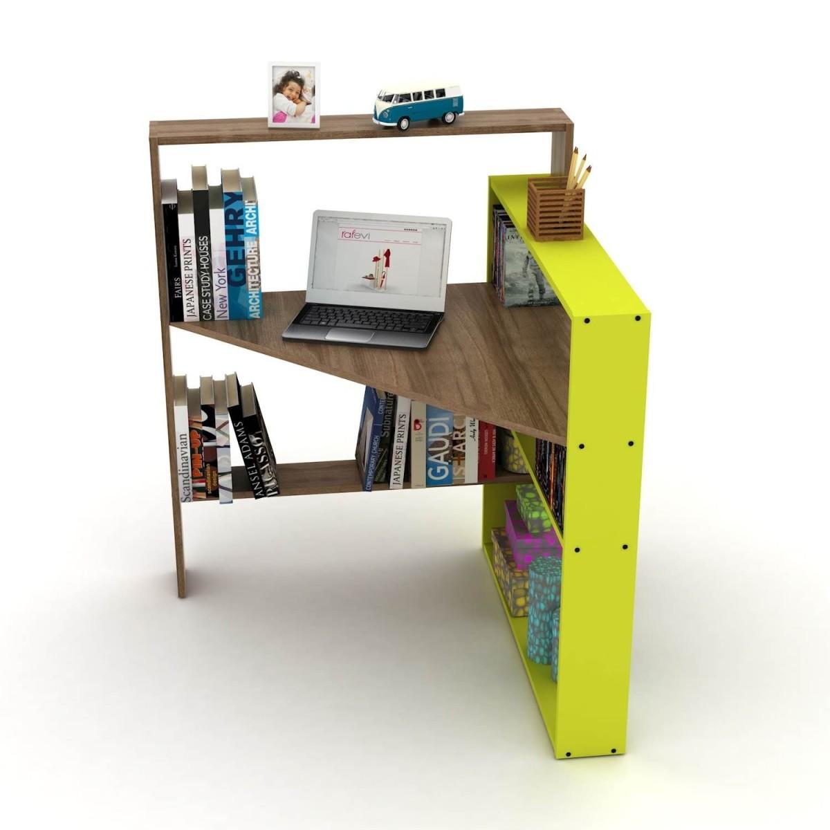 Geometry libreria angolare con scrivania porta pc salvaspazio - Mensole porta pc ...