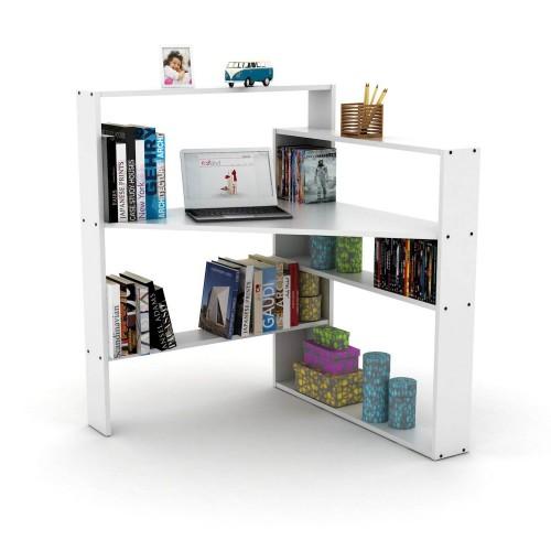 Libreria angolare con scrivania porta PC salvaspazio Geometry