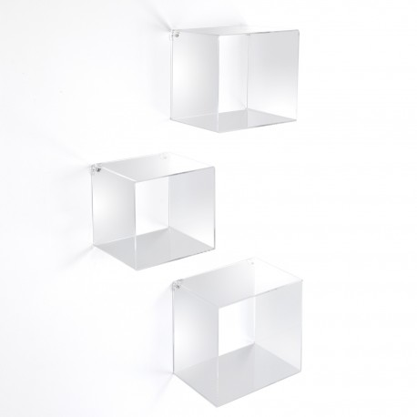 Det di 3 cubi quadrati da parete in acrilico KleverQ