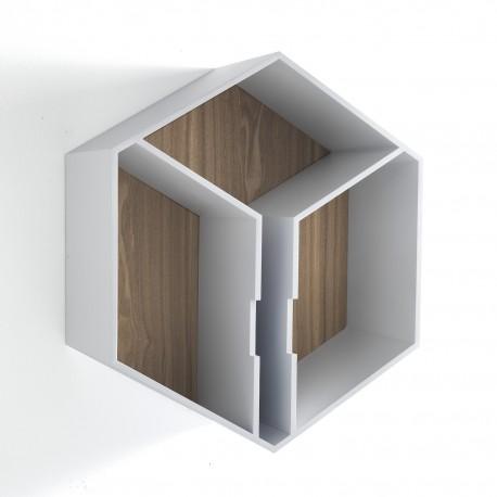 Mensola modulare a parete a forma di esagono Esagon