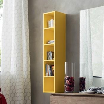 Libreria a colonna a muro design moderno Eloise